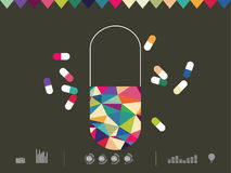 Icon drug Royalty Free Stock Photography