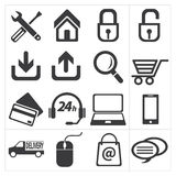 Icon e commerce and shopping Royalty Free Stock Photo