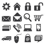 Icon e commerce and shopping Royalty Free Stock Photography