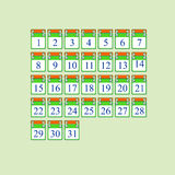 Icon for each calendar day Stock Photos