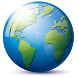Icon Earth Globe Stock Images