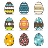Icon easter egg  set Royalty Free Stock Photography