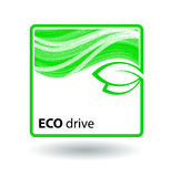 Icon eco drive. Royalty Free Stock Photo