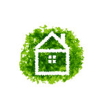 Icon eco home on grunge background Royalty Free Stock Photos