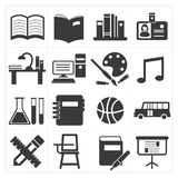 Icon education Stock Photos