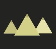 Icon Egyptian pyramids illustrated Stock Photo