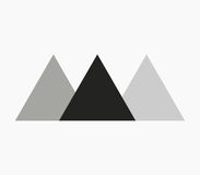 Icon Egyptian pyramids illustrated. On a white background Royalty Free Stock Photography