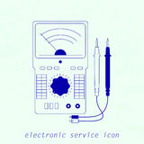 Icon of electrical measuring instrument. Vector illustration Royalty Free Stock Photos