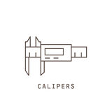 Icon electronic calipers. Stock Images