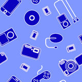 Icon  with  electronic gadgets. Royalty Free Stock Photos