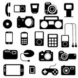 Icon  with  electronic gadgets. Stock Photo