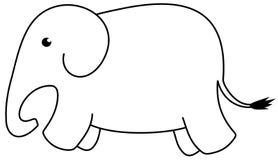 An icon elephant Stock Photo