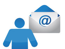 Icon and email envelope. Over white background Stock Photography