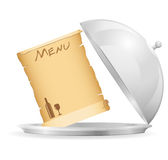 Icon emblem for restaurant vector illustration Royalty Free Stock Photos