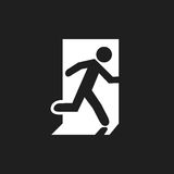 Icon emergency exit Stock Photography