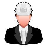 Icon Engineer in Safety Helmet Royalty Free Stock Image