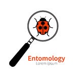 Icon of entomology Royalty Free Stock Photography