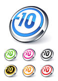 Icon explicit content -10 Stock Image