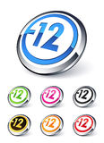 Icon explicit content -12 Stock Photography