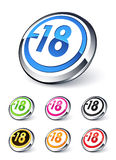 Icon explicit content -18 Stock Images