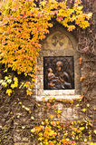 Icon on external church wall at Kalemegdan fortress Royalty Free Stock Image