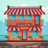 Icon of the facade a shop store or cafe Royalty Free Stock Image