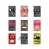 Icon face phone Royalty Free Stock Image