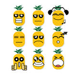 Icon face pineapple Royalty Free Stock Image