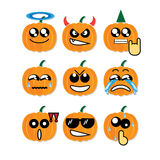 Icon face pumpkin Royalty Free Stock Images