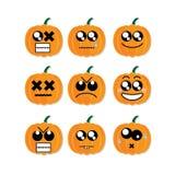 Icon face pumpkin Stock Image