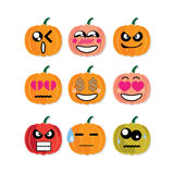 Icon face pumpkin Royalty Free Stock Photography