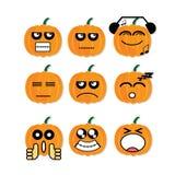 Icon face pumpkin Stock Photos