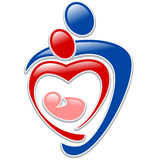 Icon family. Icon person - symbol family holding hands in the shape of a heart Royalty Free Stock Photos