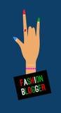 Icon fashion blogger Royalty Free Stock Photo