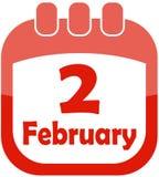 Icon February 2 calendar Royalty Free Stock Photo
