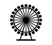 Icon ferris wheel. On white background Stock Photos