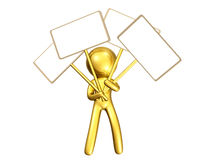 icon figure with blank message board Stock Photo