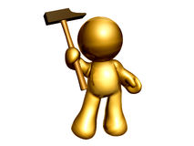 icon figure with handy tools Stock Photography