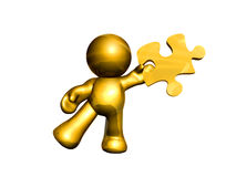 icon figure holding puzzle piece solution Stock Photography