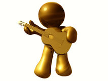 icon figure playing guitar Stock Image