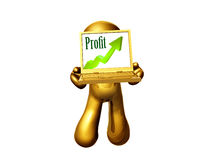 icon figure presenting the chart Royalty Free Stock Images