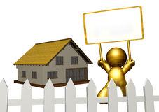 icon figure selling property Stock Image