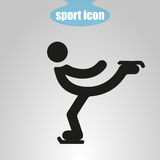 Icon of Figure Skating on a gray background. Vector illustration Stock Image