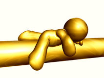 icon figure sleeping Royalty Free Stock Photo
