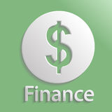 Icon finance Royalty Free Stock Photo