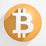 Icon of financial currency Bitcoin Stock Photos