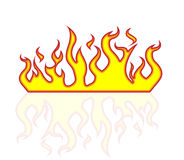 Icon fire flames style carton Stock Photo
