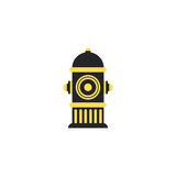 Icon fire hydrant. Single silhouette fire equipment icon. Vector illustration. Flat style. Icon fire hydrant. Single silhouette fire equipment icon. Vector Stock Photo