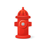 Icon fire hydrant, vector illustration. Icon red fire hydrant, isolated vector illustration Stock Image