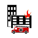 Icon fire. Royalty Free Stock Images